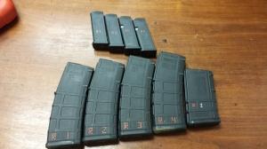 Glock and AR-15 magazines