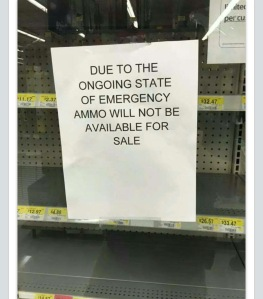 Wal-Mart shelf during the Baltimore riots...