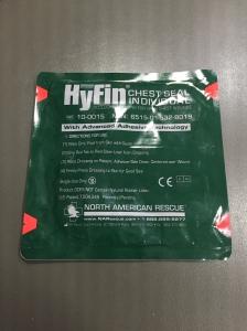 A HyFin Chest Seal...