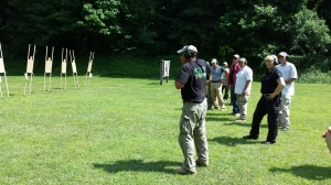 Mike Pannone demonstrating the draw.