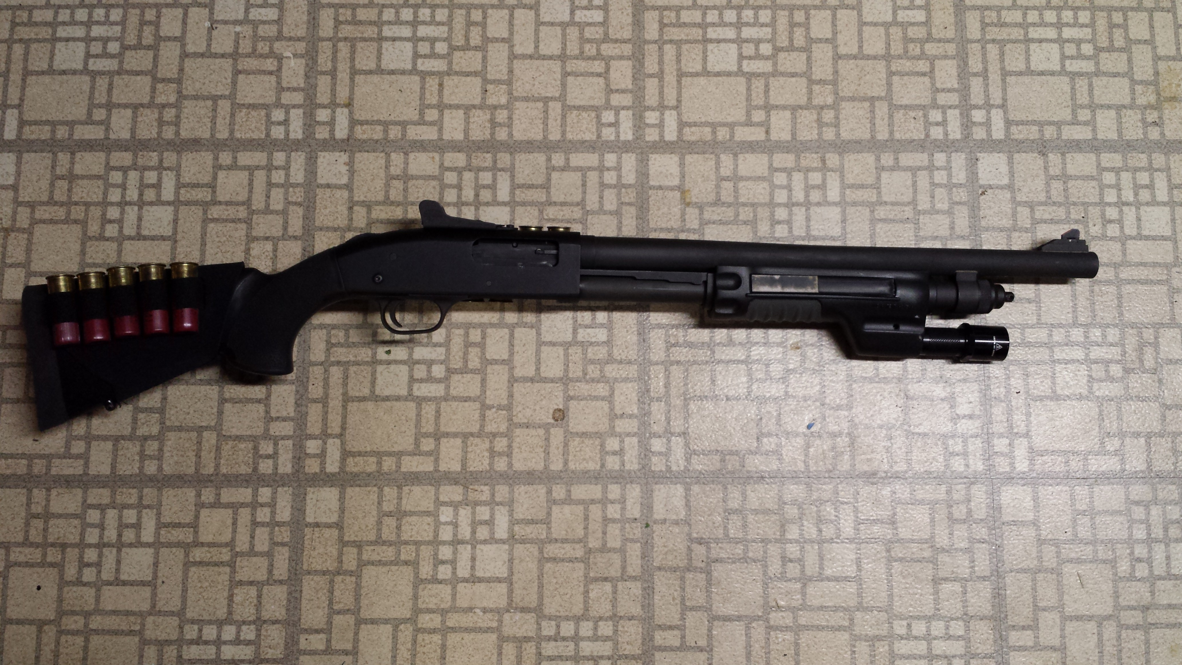 Mossberg 590A1 With Surefire Forend