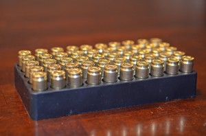 Ammunition in a factory packaging tray...