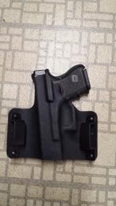 Backside of the holster