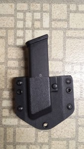 Glock 17 magazine in my modified Raven Concealment magazine pouch.