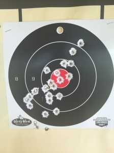 My target after shooting the