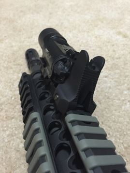 Daniel Defense fixed front sight and Surefire X300 Ultra...