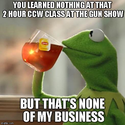 Kermit says: