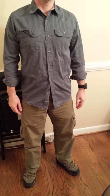 Solid, heavyweight shirt (gotta iron that pocket flap down!)