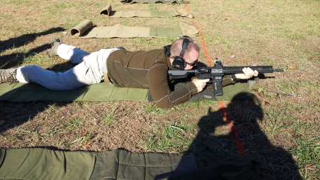 The prone position.